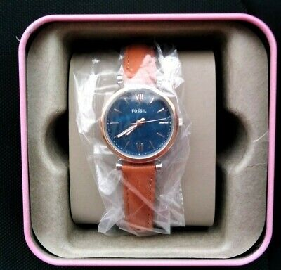 View Details NEW Fossil Ladies ES4701 Mini Carlie Three Hand Watch With Tan Leather Strap • 40.00£