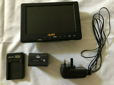 £55 • Buy Lilliput 7inch HD LCD Monitor + INOV8 3900mAh Lithium Ion Battery And Charger