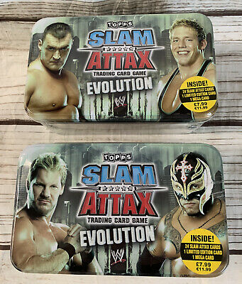 £29.99 • Buy WWE Slam Attax Evolution - 2 New And Sealed Tins With Limited Edition Cards