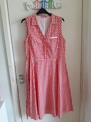 £7 • Buy Red And White Checked Tea Dress Size 14 Tu From Sainsbury's