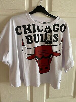 £6.50 • Buy White Chicago Bulls Box T-Shirt From Primark In Size 18/20 XL