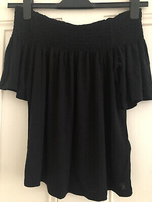 £2.50 • Buy H&M Pretty Off Shoulder Black Peasant Style Top - Size XS ❤️BNWT