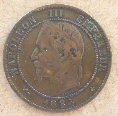 £1.50 • Buy 1864 France 10 Centimes.