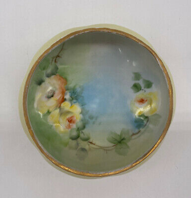$15 • Buy M Z Austria Small Porcelain Footed Bowl Hand Painted Vintage