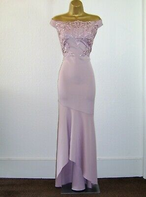 £6.50 • Buy Lipsy Fab Nude Lace Sequin Design Evening Party Occasion Maxi Dress Size 10 New