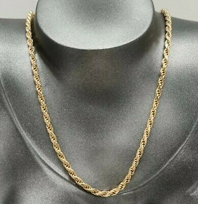 £431 • Buy 9ct Gold Rope Chain Necklace 18G 20