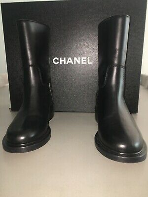 £955.79 • Buy Chanel Moto Boots - Rare Brand New In The Box Retail $2000!