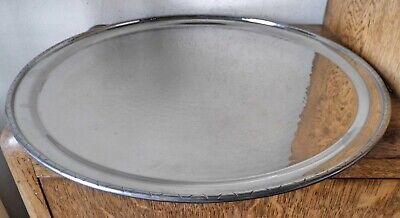 £1 • Buy LR.I BORROWDALE HAND BEATEN STAINLESS CHARGER Keswick School Arts & Crafts Tray