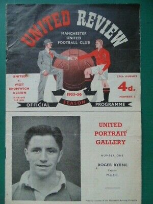 £4.99 • Buy MANCHESTER UNITED  V  WEST BROMWICH ALBION DIV.ONE  1955/56