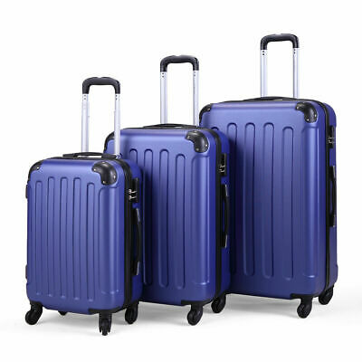 """View Details 3 Pieces Luggage Set Durable Travel Suitcase With Spinner Wheels 20"""" 24"""" 28"""" • 105.99$"""
