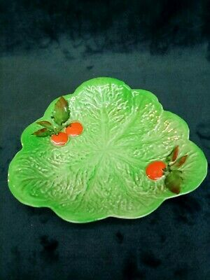 £7 • Buy Vintage Carlton Ware Plate Dish In Lettuce Leaf And Tomato Pattern 1930's Vgc