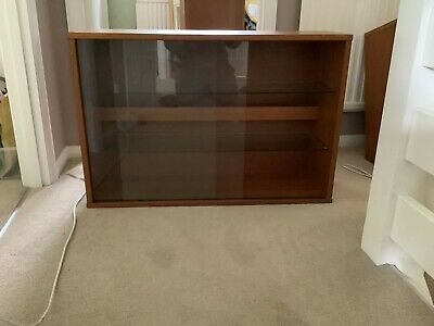 £50 • Buy Tapley Teak & Glass Wall Cabinet In New Condition