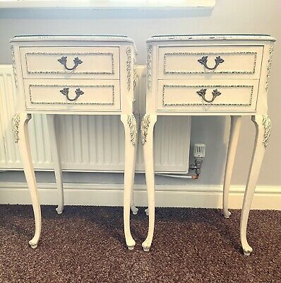 £185 • Buy Matching Pair Vintage French Rococo Style Bedside Tables
