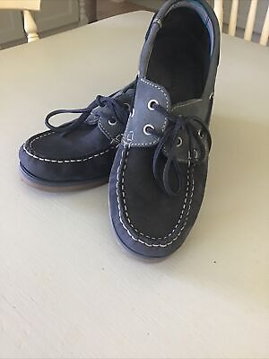 £32.99 • Buy Moshulu Salcombe Ladies Leather Deck Shoes Size 7/40 Blue Mix VGC