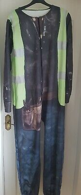 £20 • Buy Wall's  Wallsie  Construction Worker/builder All In One Suit- One Size Onsie1