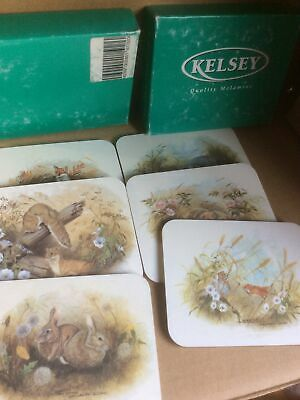 £3.95 • Buy 6 Kelsey Wildlife Coasters Boxed.  Excellent Condition