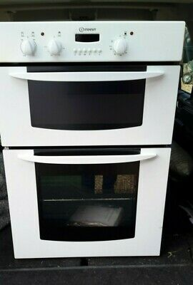 £75 • Buy Cooker Indesit Electric Double Oven Integrated Full Size White Built In Cooker
