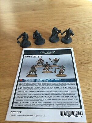 £3.99 • Buy Warhammer 40k Chaos Cultists (5 Miniatures+ Rules) (Presprayed In Good Condition