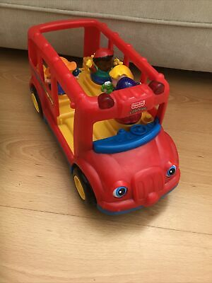 £4 • Buy Fisher Price Little People School Bus And Figure