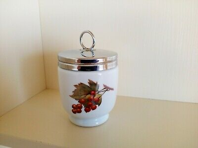 £6.99 • Buy Royal Worcester King Size Egg Coddler, Plum And Berries, Ex Condition