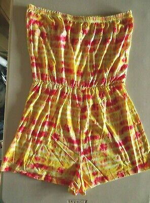 £4.50 • Buy Multi Coloured Bandeau Playsuit From Matalan Sizes  L  (16-18)  ,XL (20-22)