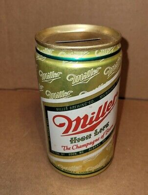 $15 • Buy Vintage Miller High Life Milwaukee Wisconsin Flat Top Beer Can Coin Bank