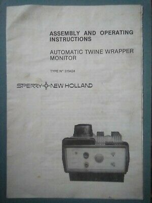 £1.99 • Buy New Holland Round Baler 841 & 861, Twine Wrapping Monitor Manual (Only) 1985