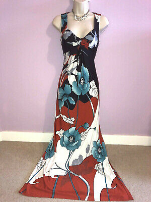 £15 • Buy Ladies Phase Eight Maxi Stretchy Floral Dress Size 10