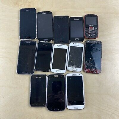 $ CDN15 • Buy Lot Of 13 Samsung Galaxy / Note Smart Phones Untested - For Parts Or Repair