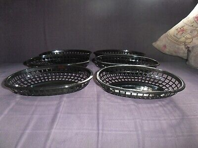 £5 • Buy Plastic Food Baskets - Fast Food, Take Out, Retro Diner, Chip, Burgers, Chicken.