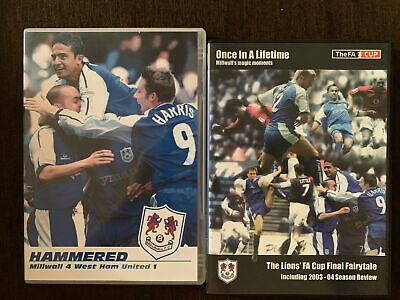£9.99 • Buy Millwall X 2 DVD FA Cup 2003-2004 Season Review & Millwall 4 West Ham 1 Game