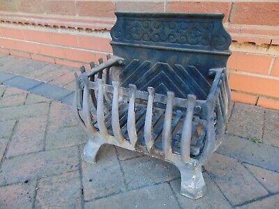 £95 • Buy Cast Iron Fire Basket, With Decorative Fire Back