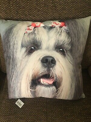 £5.55 • Buy Shih Tzu Large Scatter Cushion And Cover Gift New With Tag