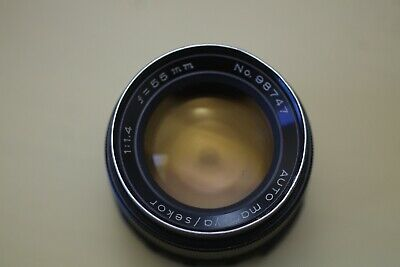 $21.50 • Buy M42 Early Blk Auto Mamiya Sekor 55mm F1.4: Works: Some Mold On Rear: Please Read