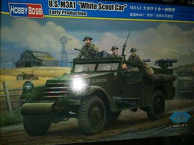 $30 • Buy HOBBY BOSS # 82451 US M3A1 WHITE SCOUT CAR EARLY PROD 1/35 Scale Kit OPEN BOX