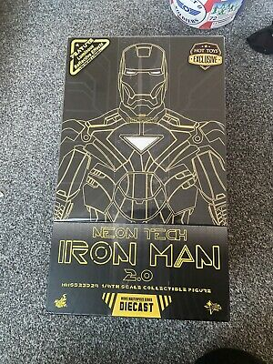 $ CDN429.73 • Buy Hot Toys Excl MMS523 Iron Man 2.0 Neon Tech Suit Diecast 1/6 Brand New Sealed