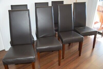 AU390 • Buy Dining Chairs, Brown, Genuine Leather, Set Of 7