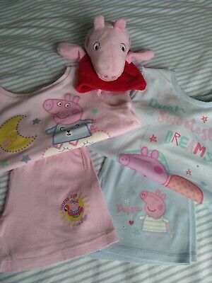 £2.99 • Buy *PEPPA PIG* Pyjama Duo Age 18-23/24 Months With Soft Hand Puppet