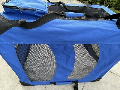 £4.90 • Buy Dog Cat Puppy Fabric Portable Carrier Folding Cage Pet Travel Bag