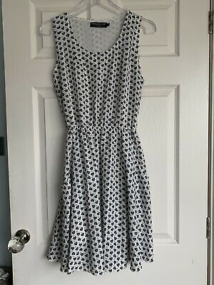 £2.50 • Buy Pussycat London White & Grey Sleeveless Short Dress Size L Excellent Condition