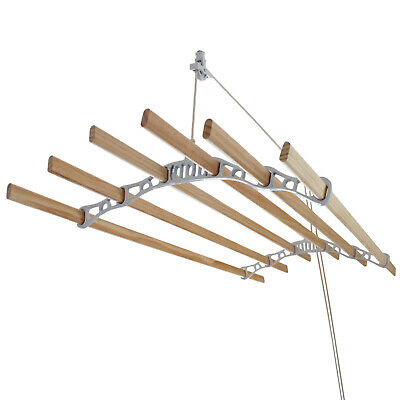 £84.99 • Buy Clothes Airer Ceiling Pulley Maid Traditional Mounted Dryer 6 Lath 1.8m White