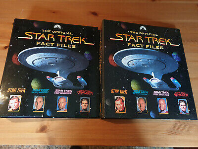 £20 • Buy The Official Star Trek Fact Files - 2 Clip Folders With Issues 1 To 24