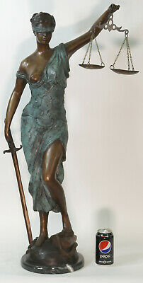 £690.03 • Buy Greek Goddess Justice Is Blind Statue Bronze Finish Large Size Themis Figurine