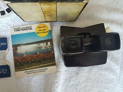 £35 • Buy Rare View Master Stereoscopic E Brown Bakelite   Viewer  Boxed Reels 1957