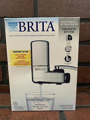 £18.18 • Buy Brita Water Filter System Chrome On Tap Faucet Single Unit Purifier Kitchen Sink