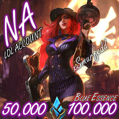 £1.99 • Buy NA League Of Legends LOL Account 50.000💖100.000 BE Unranked Smurf Level 30