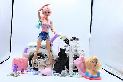 £49.99 • Buy Swapping Styles Barbie Doll Articulated Fashionistas Golfing Travel Playset OOAK