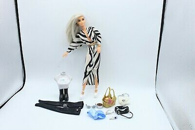 £42.42 • Buy Barbie Doll Fashionistas Head Articulated Vintage Body OOAK TOP Print TIGHTS