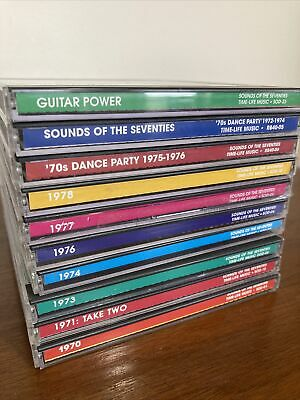£70.98 • Buy Time Life Music Sounds Of The Seventies 70s - Ten Assorted Mint CD's.