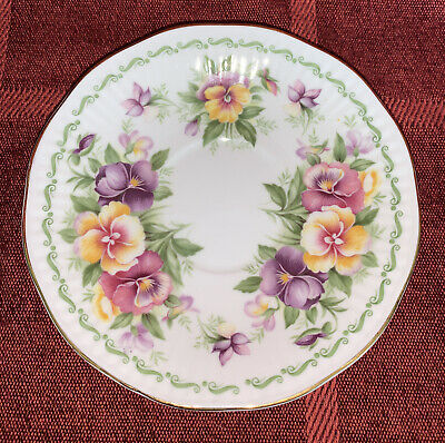 £3.50 • Buy Queen's, Rosina China Co Ltd, August Pansy Saucer